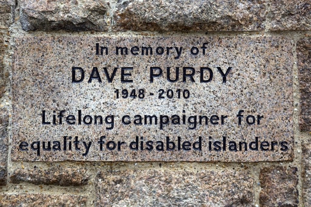 Dave Purdy's memorial stone, copyright RLLord 2011
