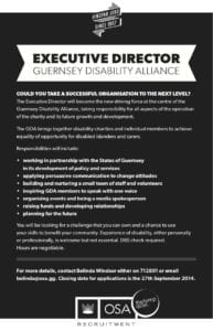 Advert for GDA Executive Director