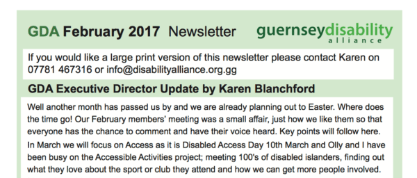 GDA February 2017 Newsletter