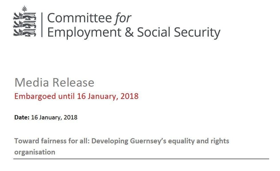 ERO Media Release – Toward fairness for all: Developing Guernsey's equality and rights organisation