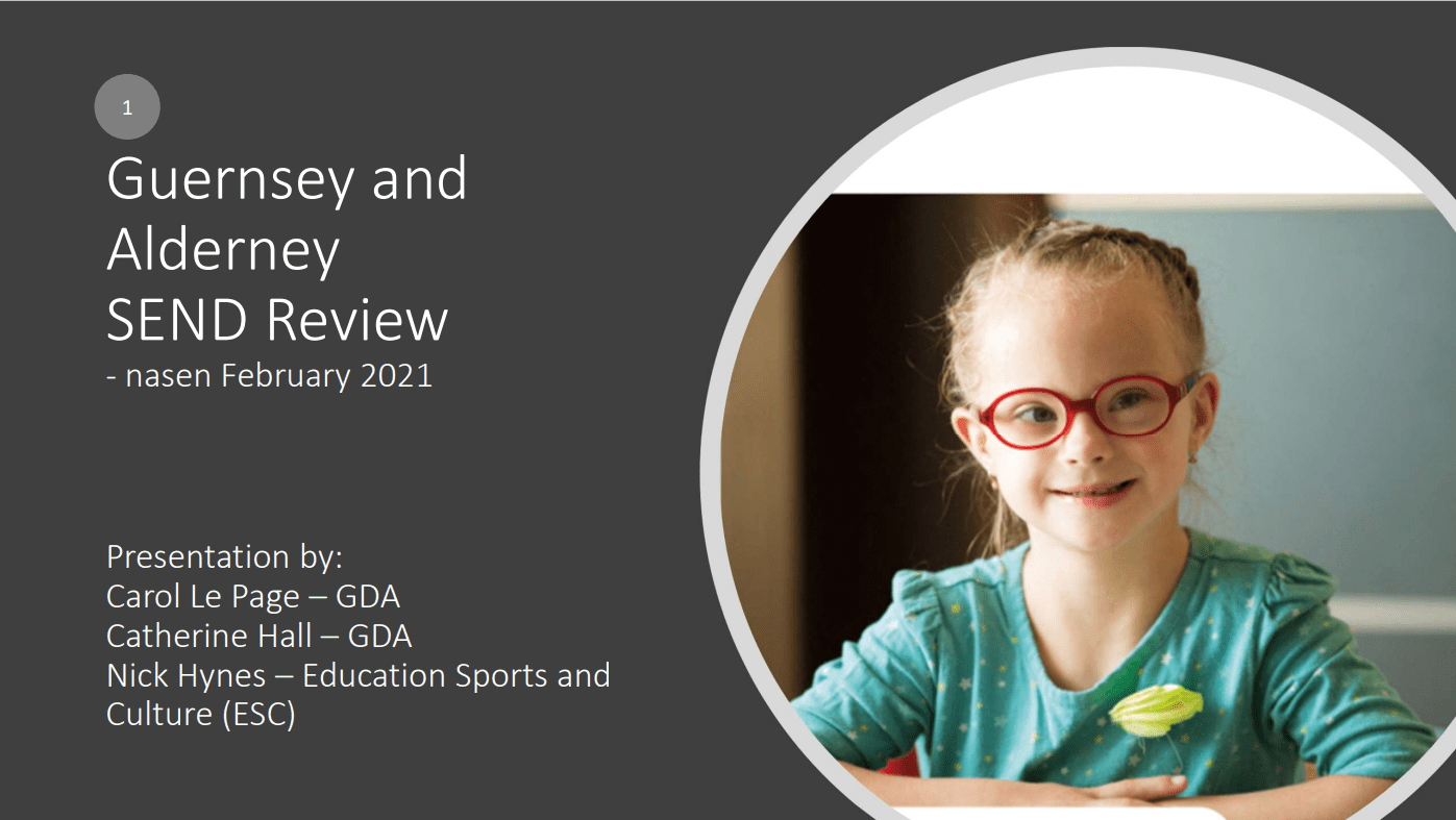 First slide of the presentation to GDA members - click here to access the pdf of all the slides